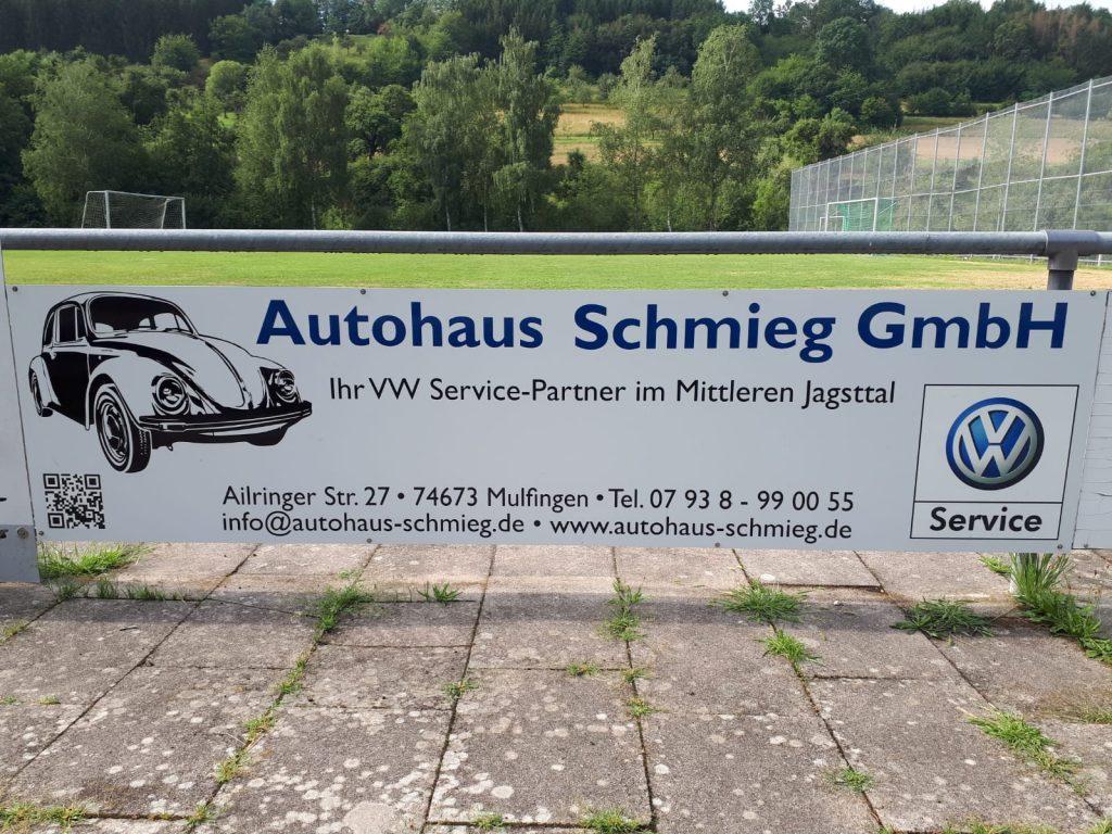 Werbebande Autohaus Schmieg